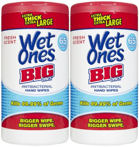 Big Ones Anti Bacterial Wipes-Fresh Scent, 65 Ct, 2 Pk front-983333