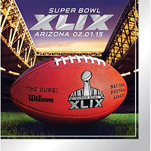 Creative Converting Arizona 16 Count Super Bowl 2015 Lunch Napkins, Multicolored