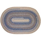 Amazon Com Blue Round Braided Rugs Area Rugs Amp Pads