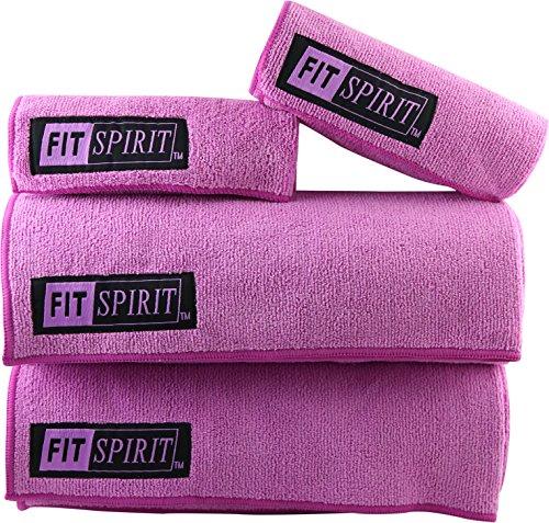 The Combo Yoga Mat Luxurious Non Slip Mat Towel: Fit Spirit Set Of 2 Super Absorbent Microfiber Non Slip