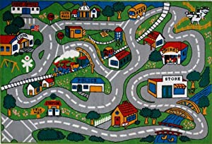 Roule Fun Time Collection Country Fun 51X78 Inch Kids Area Rugs from Roule Rugs