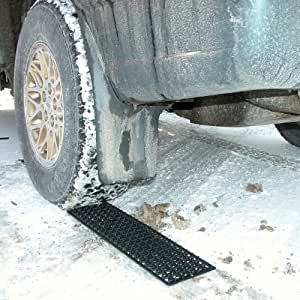 Auto snow traction mats set of 2 automotive for Best doormat for snow