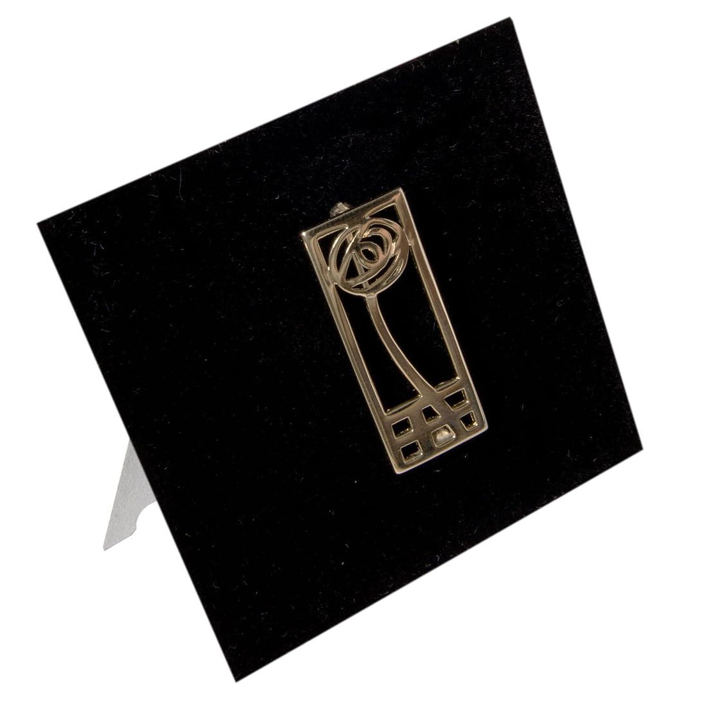 DWO904G Charles Rennie Mackintosh Brosche, 9 Karat Gold günstig