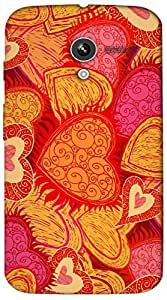 Timpax protective Armor Hard Bumper Back Case Cover. Multicolor printed on 3 Dimensional case with latest & finest graphic design art. Compatible with Motorola Moto -X-1 (1st Gen )Design No : TDZ-25418