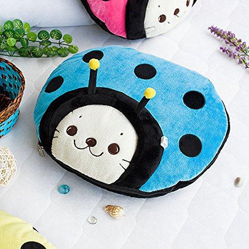 Sirotan Ladybug Bu Fleece Throw Blanket Pillow Cushion 29.5 By 35.4 Inches front-929559