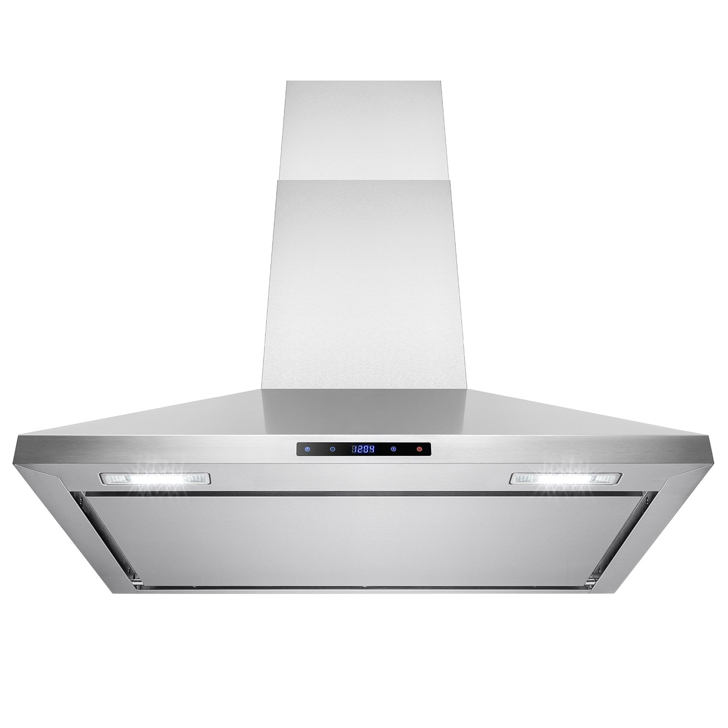 "AKDY® 36"" Stainless Steel Wall Mount 760CFM Cooking Fan Vent Touch Control Display Range Hood Noise Reduce Design"