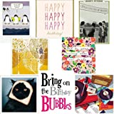 Greeting card pack - Smile 5 - contemporary and funny birthday cardsby Woodmansterne