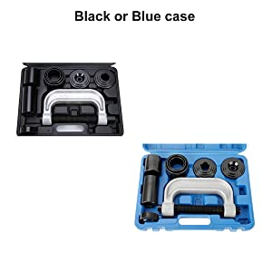 8MILELAKE 10pcs Ball Joint Press Removal/Installation Tool with 4 Wheel Drive Adapters (Color: Black)