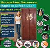 GATTS Premium Quality Magnetic Screen Door Full Frame Velcro - Keep Bugs Out Lets Fresh Air In. No More Mosquitos or Flying Insects - Children and Pet Friendly, Instant Bug Mesh with Top-to-Bottom Seal, Snaps Shut Like Magic for a Hands-Free Bug-Proof Curtain - (90 C.M X 210 C.M Size) (Coffee Color)
