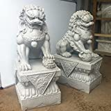 Large Foo Dogs Statues - Granite Chinese Fu Temple Lions