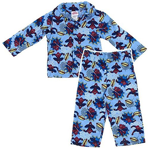 Spider-man Light Blue Coat-Style Pajamas for Toddler Boy's 2T