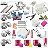 Kit de Manucure et Nail Art ultra complet - 24 accessoires dont lampe UV 36W et gels UV + gels de couleur - Sun Garden Nails...