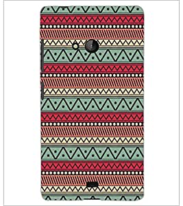 PrintDhaba Pattern D-5228 Back Case Cover for MICROSOFT LUMIA 540 (Multi-Coloured)