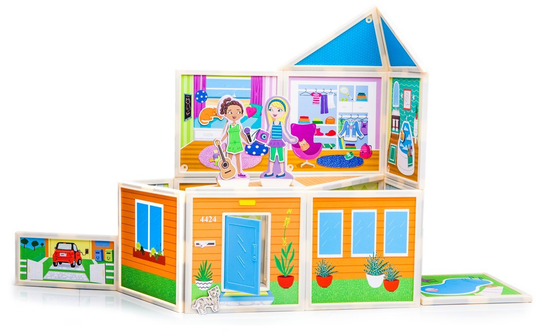 Amazon.com: Build & Imagine Malia's Beach House Building Kit: Toys ...