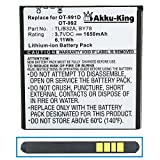 Akku-King Battery for Alcatel One Touch 6010 / 6010D / 991 / 992 / 992D - replaces BY78CAB32A0000C1 / CAB32A0000C2 / TLiB32A - Li-Ion 1650mAh