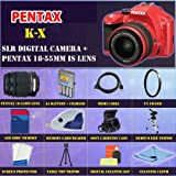 Pentax K-x Digital SLR (Red) with Pentax 18-55mm