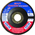 SAIT 78321 Ovation Ceramic Flap Disc with 4-1/2-Inch Diameter and 5/8-11-Inch Arbor, 10-Piece