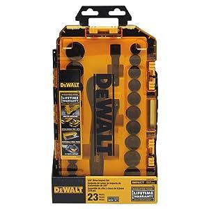 DEWALT Impact Socket Set, 23-Piece, 3/8 Drive Metric/SAE (DWMT74738)
