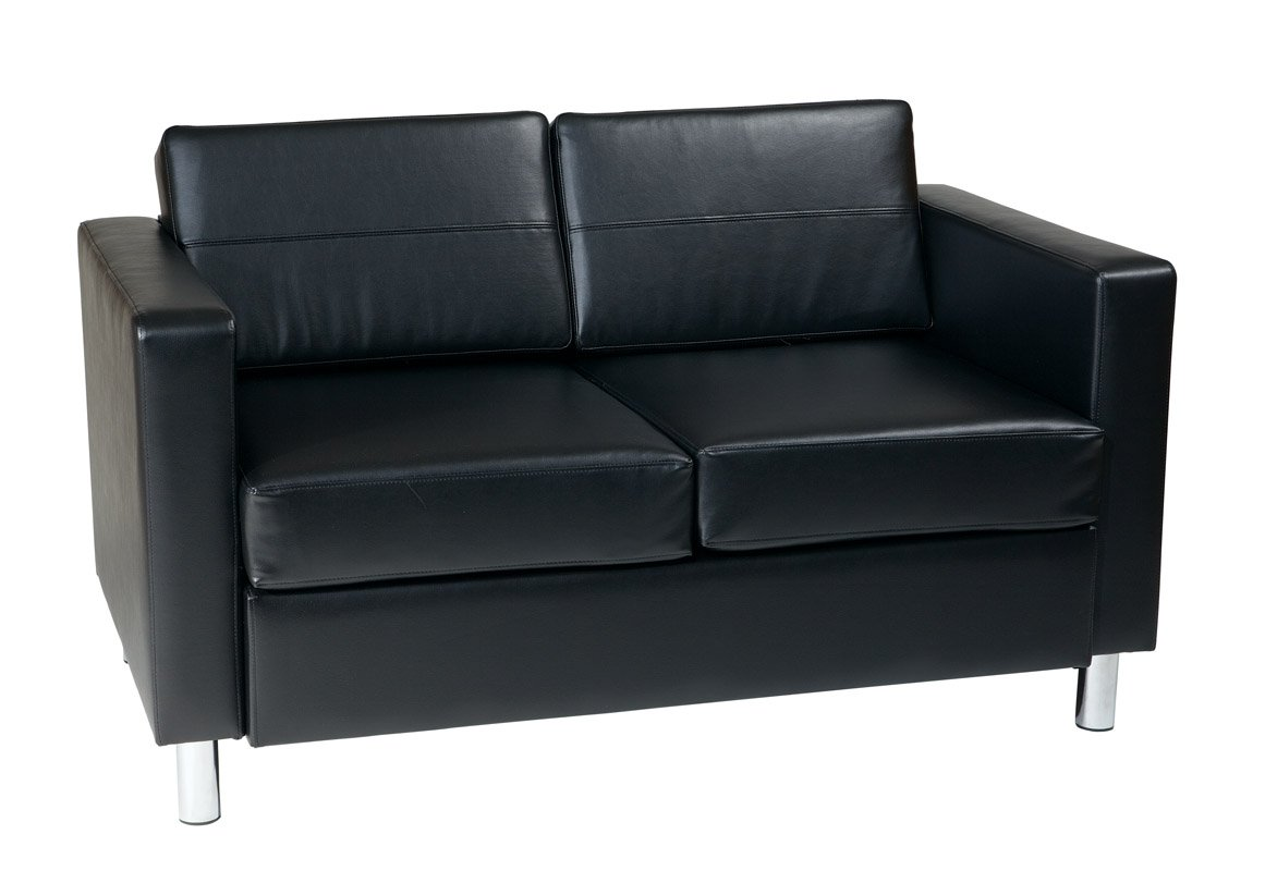 Pacific Faux Leather Loveseat