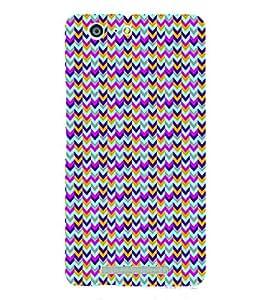 PrintVisa Corporate Print & Pattern Chevron 3D Hard Polycarbonate Designer Back Case Cover for Gionee Marathon M5
