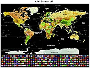 Scratch off world map poster with us states and country flags scratch off world map poster with us states and country flags track your adventures gumiabroncs Image collections