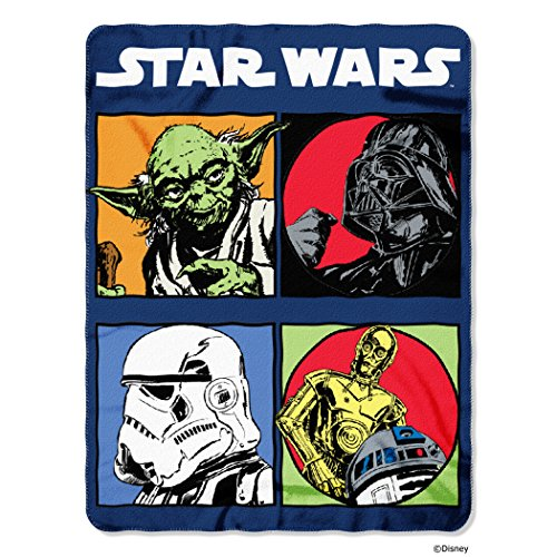 """Disney Lucas Films' Star Wars Classic Long Time Ago Printed Fleece Throw, 45 by 60"""" by The Northwest Company"""