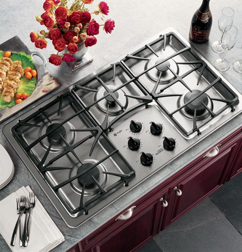 GE Profile : JGP963SEKSS 36 Gas Cooktop - Stainless Steel