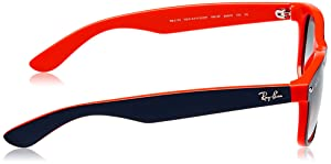 Ray-Ban New Wayfarer, TOP Blue-Orange, 55mm (Color: Top Blue-orange, Tamaño: 55 mm)