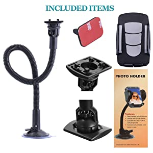Windshield Car Phone Mount Universal Cell Phone Holder Car Long Arm Holder for iPhone Xs Max R X 8 Plus 7 Plus 6S Samsung Galaxy S9 S8 Edge S7 S6 LG Sony and More 12inch