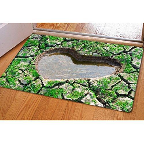 HALOVIE Funny Door Mat 40x60cm 3D Entrance Rug NON-Slip Outdoor Mat Water Absorption