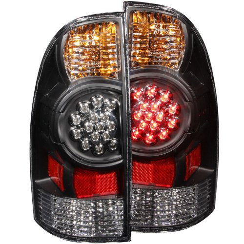 Anzo USA 311042 Toyota Tacoma Black LED Tail Light Assembly - (Sold in Pairs) (Led Tail Lights Toyota compare prices)