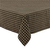 Sturbridge Table Cloth 60x84 Black Tan Plaid Country Primitive Home Kitchen Décor