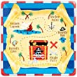 """""""Pirate Party Square Plates, pack of 8"""" 25.4cm"""