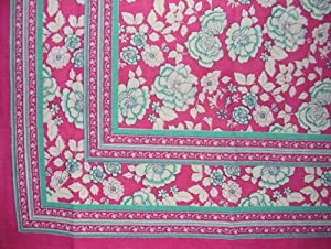 """India Rose Tablecloth-60"""" x 60"""" Inch Square"""
