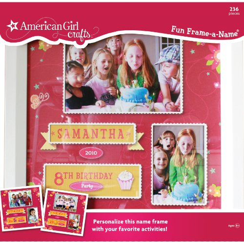 American Girl Crafts Fun Frame-A-Name front-786458