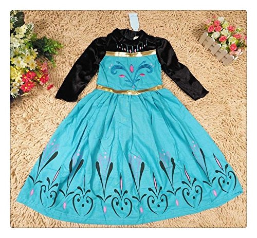 Size 3 Generic Snow Queen Princess Dress Up Cosplay Coronation Themed Gown