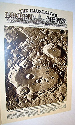 The Illustrated London News (Iln), December 27, 1952 - Cover Photo Of The First Portrait Of The Moon By The World'S Largest Telescope At The Palomar Observatory