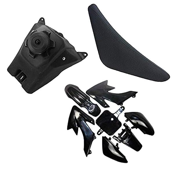 Carbon Plastic Fender Body Work Fairing Kit For Honda CRF XR XR50 CRF50 Clone 12