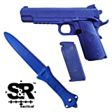 S&R Tactical - Training Gun and Knife Combo Pack 1911 (Blue/Blue) (Color: Blue/Blue)