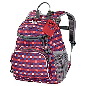 Jack Wolfskin Kinder Rucksack Little Joe, Cherry Petit Checks, 30 x 24 x 14 cm, 26221-7568
