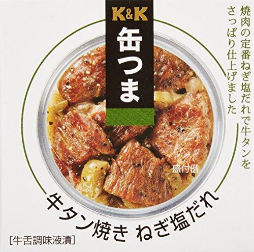 K&K 缶つま 牛タン焼き ねぎ塩だれ 60g