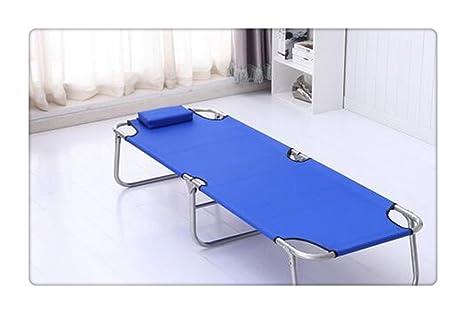 Portátil de acampar al aire libre cama plegable Azul oscuro
