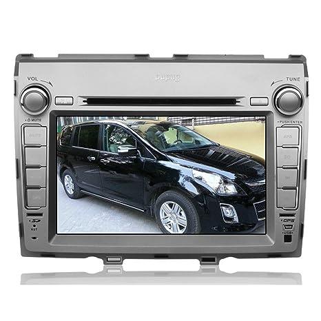 Pupug 8 pouces au-Dash DVD Player voiture Pour Mazda8 avec FM / AM Radio TV stšŠršŠo automatique Bluetooth Stereo VidšŠo de navigation GPS pour Mazda 8 dšŠcembre Argent PC