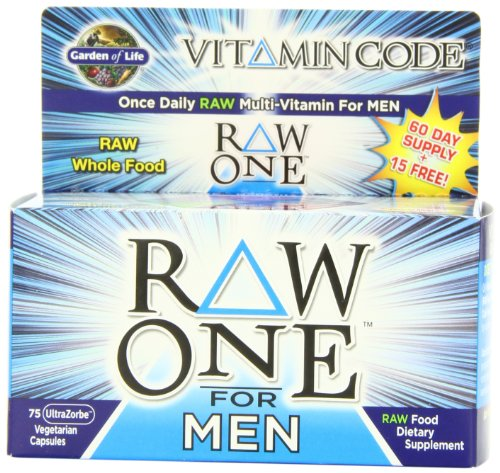 Garden of Life Vitamin Code RAW One for Men, 75 Capsules