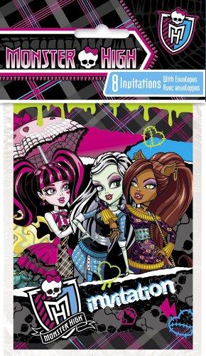 Monster High Invitations, 8ct