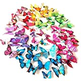 AWAKINK(TM) 72 Pcs 3d Butterfly Stickers Home Decoration DIY Removable 3d Vivid Special Man-made Lively Butterfly...