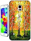 New High Quality Fashion Colorful Tree Abstract Oil Painting Design Phone Cases For Samsung Galaxy S5 i9600 No.4