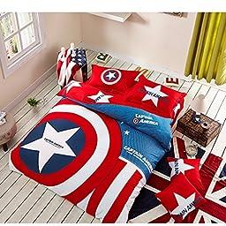 YiChen Despicable Captain Bedding Sets / Cartoon Bedding Sets / Kids Bedding Sets Twin / Full/Queen / King Size
