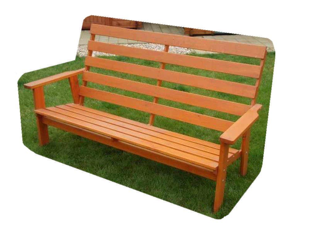 Massivholz Gartenbank Sevila , Kiefer unlackiert , B 183 cm , Holz 28/20 mm