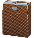 Smead Organized Up MO Vertical File Case, Holds up to 600 Sheets, Full-Height Sides, Letter Size, Brown Diamond ( 92000)